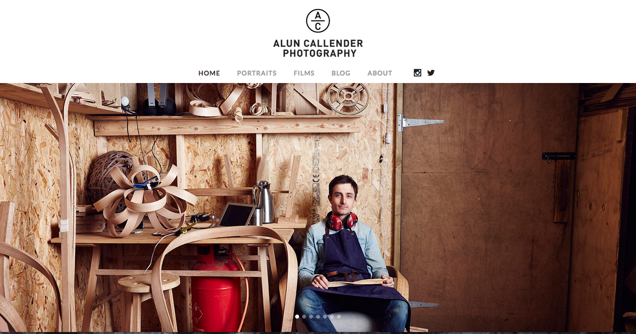 Alun Callender Photography Website