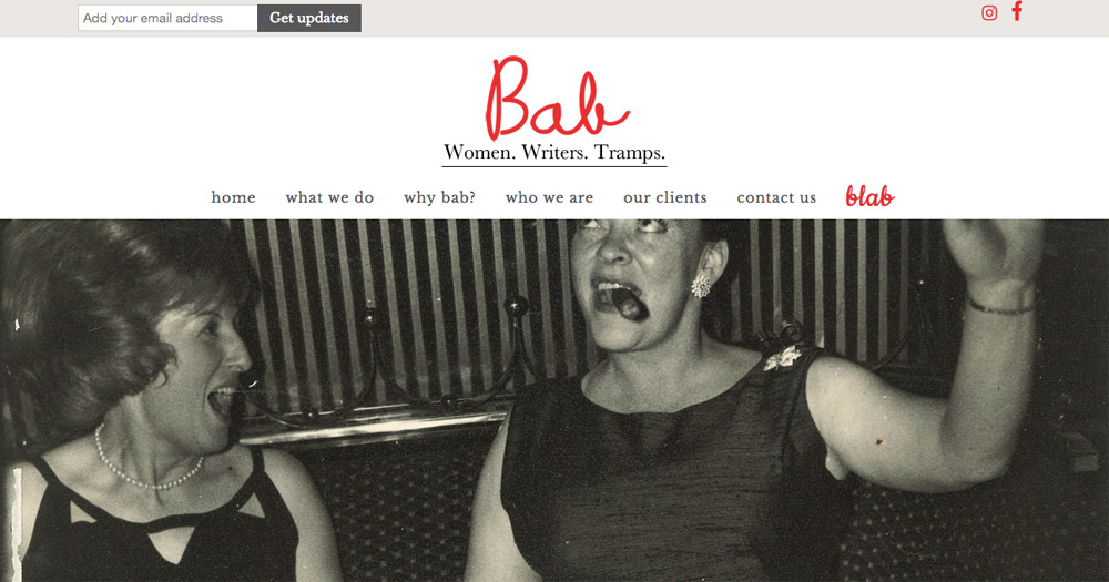 Babwebsite design by Sarah Callender Design