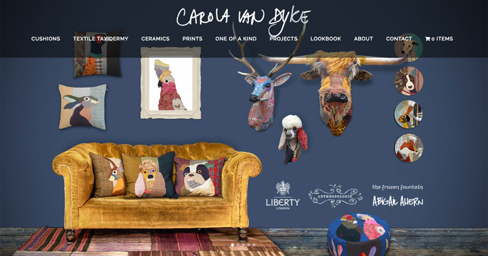 Carola Van Dyke website design by Sarah Callender Design