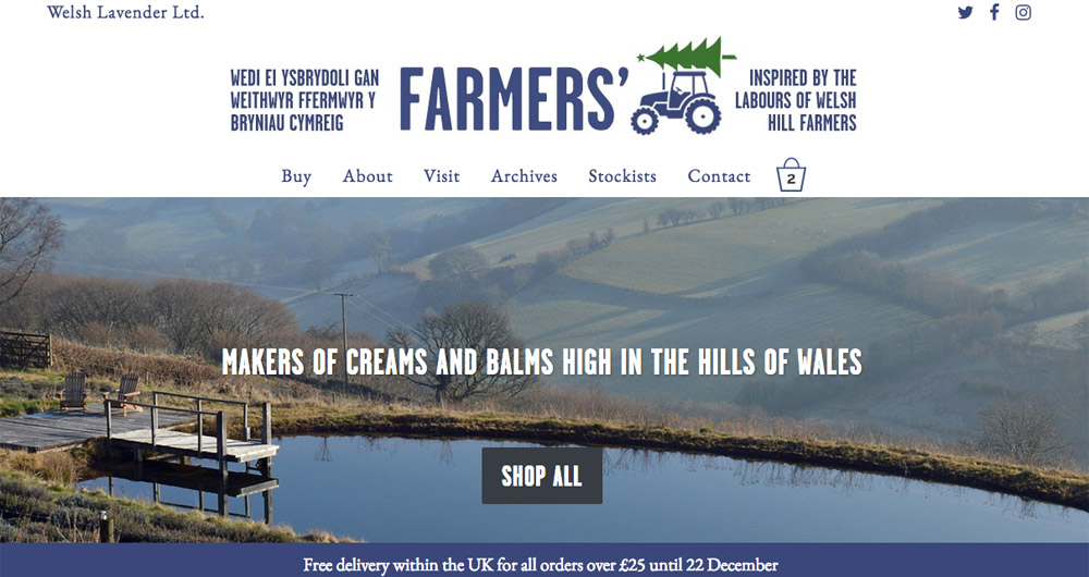 Farmers' website design by Sarah Callender Design