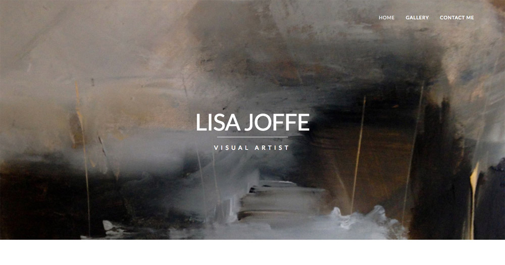 Lisa Joffe artist website design by Sarah Callender Design