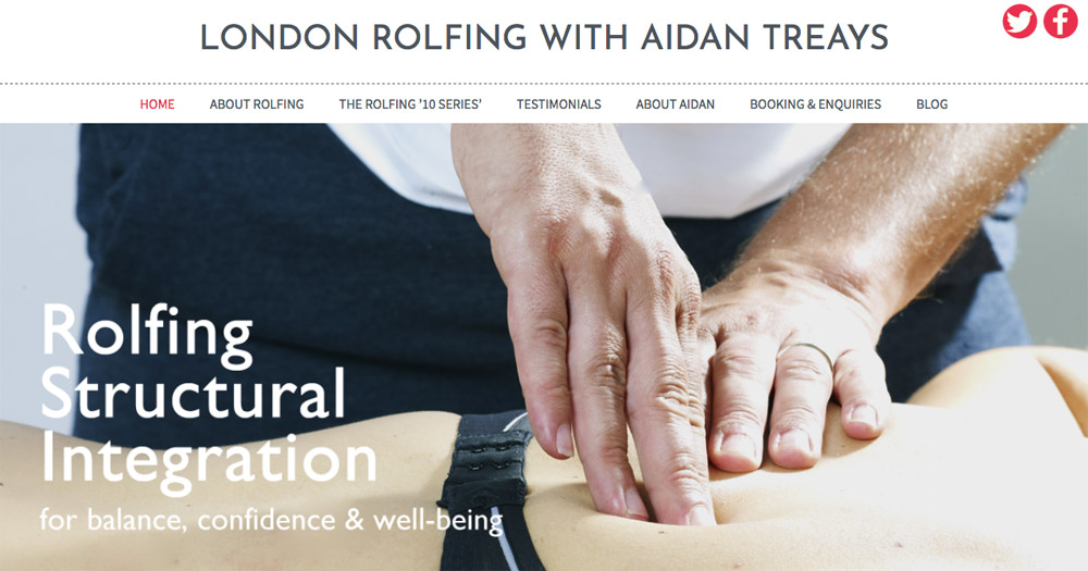 London Rolfing website design by Sarah Callender Design
