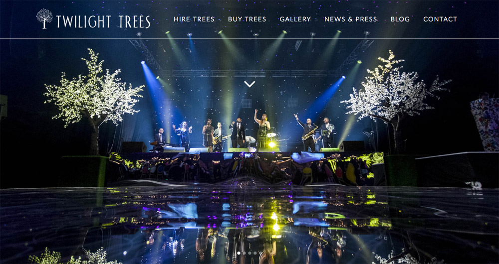 Twilight Trees website design by Sarah Callender Design