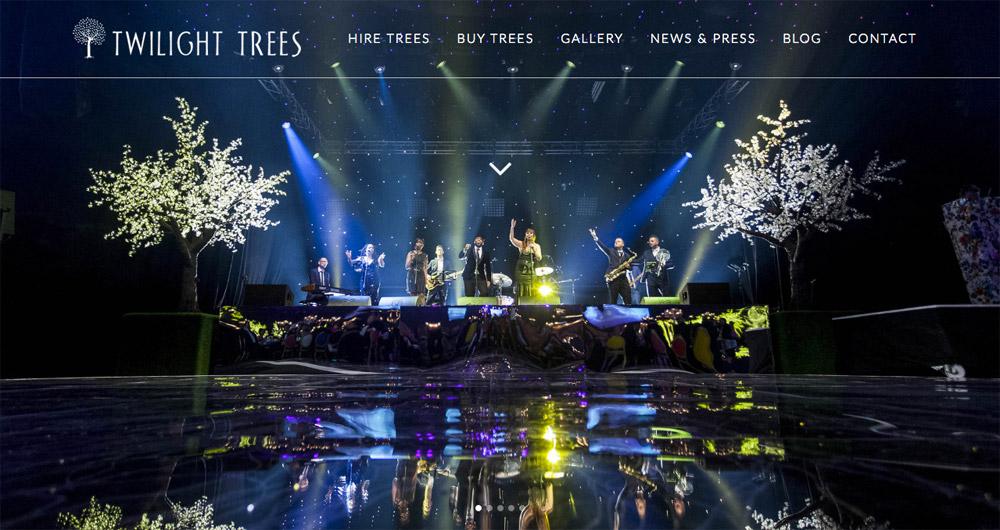 Twilight Trees website design by Sarah Callender Design