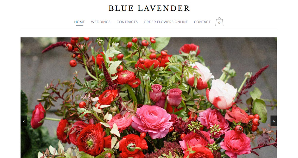 Blue Lavender website design by Sarah Callender Design