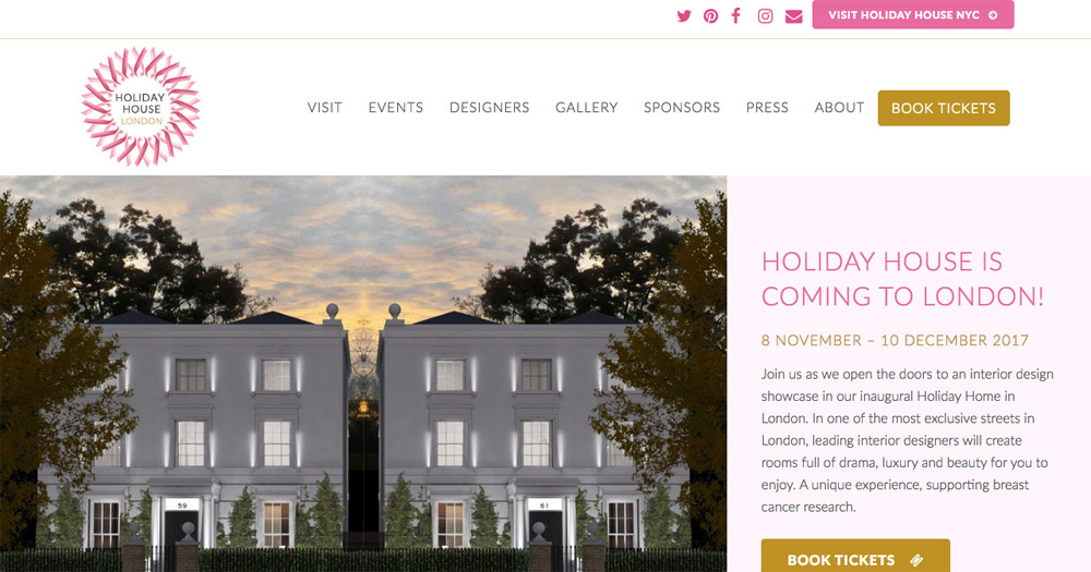 Holiday House London website design by Sarah Callender Design