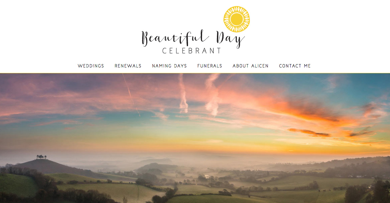 Beautiful Day Celebrant website and logo design