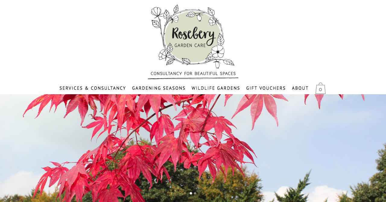 Rosebery Garden Care website design, logo design and illustrations