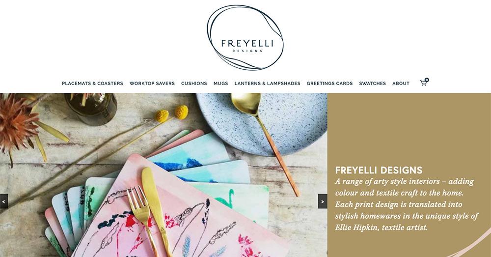 Freyelli Designs website design by Sarah Callender Design